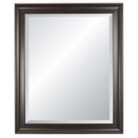 "Carriage House Black Beveled 31""x37"" Wall Mirror"