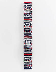 Devils Advocate Chrsitmas print knitted tie