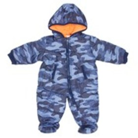 CARTERS Baby Boys Blue Camouflage Pram (3-9m)