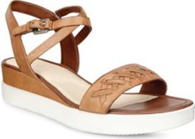 ECCO Touch Braided Plateau Ankle Strap Sandal (Wom