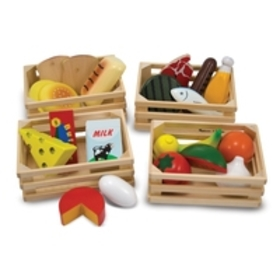 Melissa & Doug Food Groups - 21 Hand-Painted Woode
