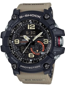 Casio Casio G-Shock Black Dial Tan Resin Strap Men