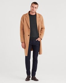 Wool Overcoat in Camel