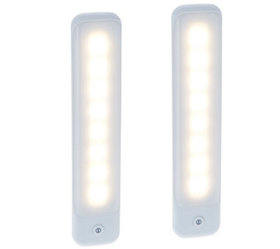 Globe Electric Set of 2 Frosted Edge Strip Lights
