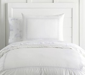 Monique Lhuillier Something Blue Border Duvet Cove