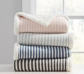 Stripe Fur Baby Blanket