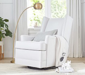 Modern Wingback Swivel Glider & Recliner