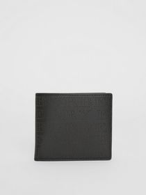 Perforated Logo Leather International Bifold Walle