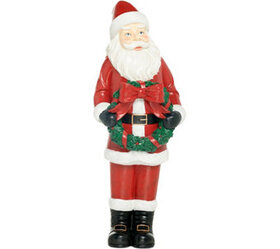 Indoor/Outdoor Oversized Santa with Holiday Wreath