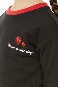 Girls Have A Nice Day Graphic Ringer Tee (Kids)