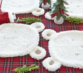 Sherpa Polar Bear Placemat