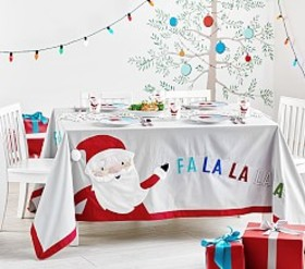 Merry & Bright Christmas Tablecloth