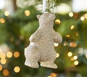 Polar Bear Glitter Ornament
