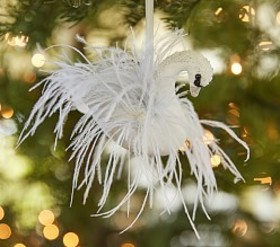 Monique Lhuillier Feather Swan Ornament