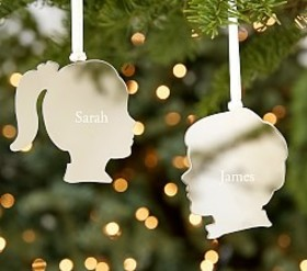 Silver Shaped Ornaments