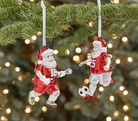 Mercury Glass Sports Ornaments