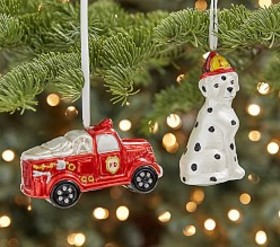 Mercury Glass Ornaments Trucks & Trains