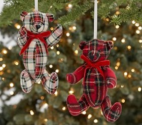 Plush Bear Ornaments