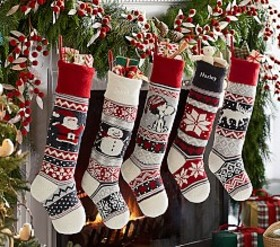 Natural Fair Isle Stocking Collection