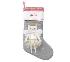 Angel Kitty Quilted Stocking