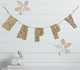 Emily & Meritt Gold Sequin Letters & Garlands