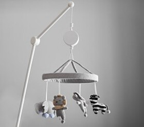 Knit Animal Crib Mobile