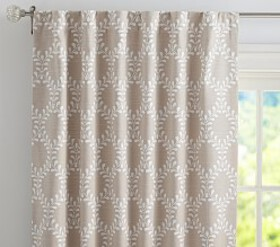 Evelyn Vine Linen Blend Blackout Panel