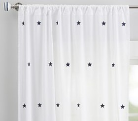 Embroidered Stars Sheer Panel