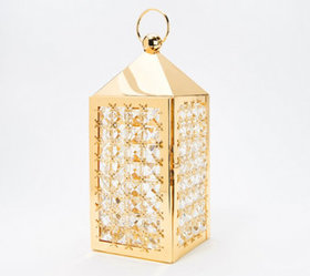 "14.5"" Illuminated Faceted Gem Lantern by Valerie -"