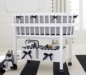 The Emily & Meritt Black & White Bassinet Bedding