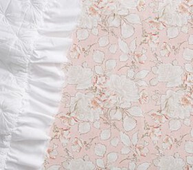 Tencel® Rose Toile Crib Fitted Sheet