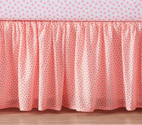 The Emily & Meritt Organic Neon Stars Crib Skirt