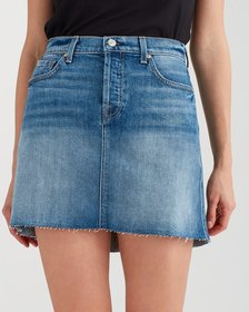 High Low Mini Skirt with Destroy in Canyon Ranch