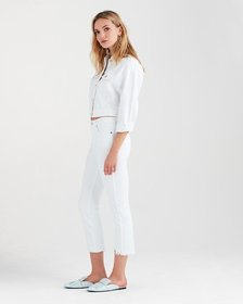 Edie With Wave Hem in White Fashion