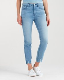 B(air) Denim High Waist Ankle Skinny with Shredded