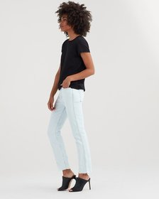 Edie with Destroy and Cut off Hem in Desert Sun Bl