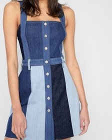 Patchwork A Line Dress in Patchwork Found