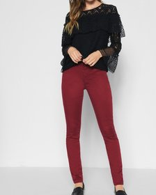 B(air) Color Ankle Skinny in Oxblood