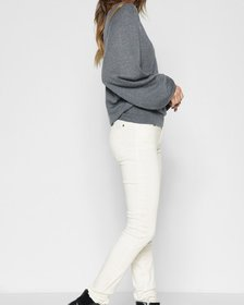 B(air) Color Ankle Skinny with Faux Pockets in Pea