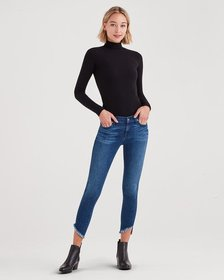 Ankle Skinny with Angled Raw Hem in 5th Ave