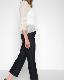 Cropped Ali with Frayed Hem in New York Rinse