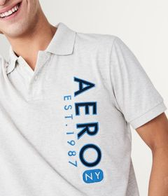 Vertical Aero NY Graphic Jersey Polo