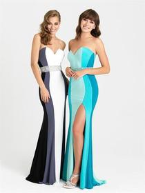 Madison James - 16-381 Dress in Turquoise