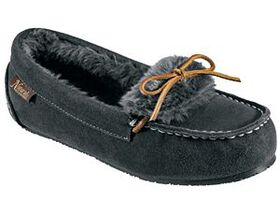 Natural Reflections® Fur-Lined Suede Moccasins