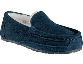 Outdoor Kids Youth Suede Slipper Moccasins