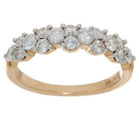 """""""As Is"""" 98 Facet Diamond Band Ring, 1.00 cttw, 14K"""