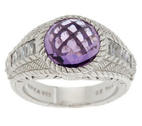 """""""As Is"""" Judith Ripka Sterling 3.85ct Amethyst and"""
