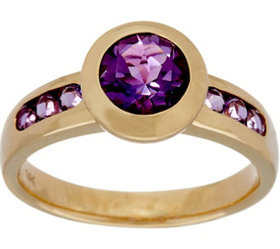 """""""As Is"""" Semi- Precious Gemstone Solitaire Ring, 14"""