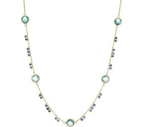 Italian Gold 12.70 cttw Multi-Gemstone Necklace, G