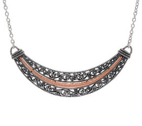 Or Paz Sterling Silver Floral Lace Design Necklace